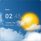 Transparent Clock & Wetter