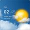 Transparent clock & weather