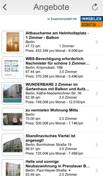 immoalarm push nachrichten f r immobilienscout24 iphone ipad app chip. Black Bedroom Furniture Sets. Home Design Ideas