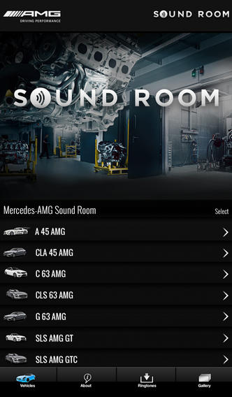 Screenshot von AMG Soundroom