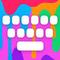 Farbige Tastatur   RainbowKey - individuell anpassbare Tastatur mit HD HIntergründen Themes, coolen Schriftarten und spassigen emojis