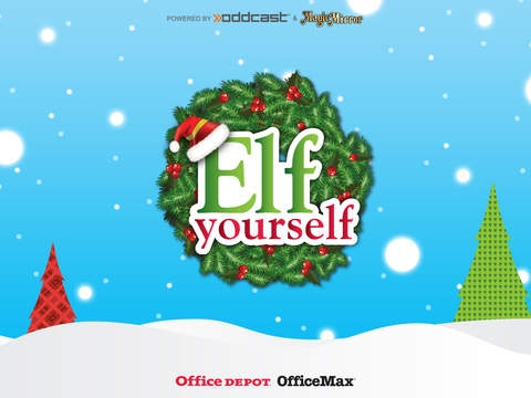 elfyourself by officemax iphone ipad app chip. Black Bedroom Furniture Sets. Home Design Ideas